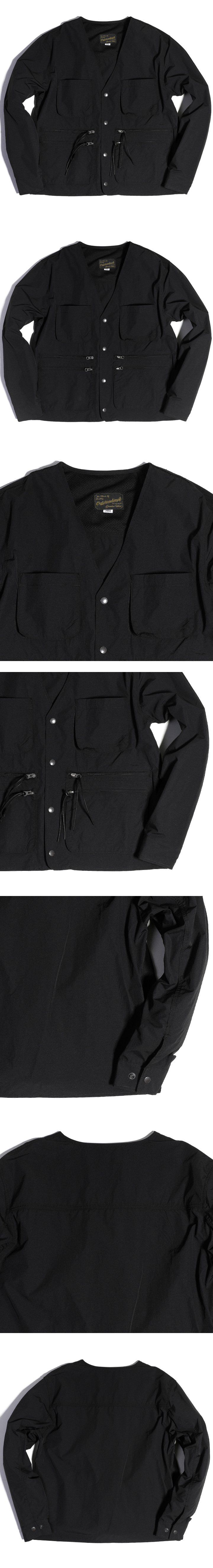 아웃스탠딩(OUTSTANDING) NOCOLLAR HUNTING JACKET [BLACK]